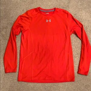 Under Armour Orange Fitted Long Sleeve Pullover